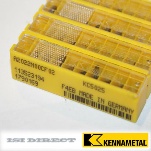 ** SALE ** A2022N00CF02 KC5025 KENNAMETAL *** 10 INSERTS ** FACTORY PACK **