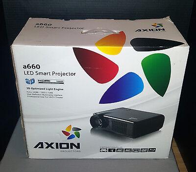 Axion a660 LED smart Projector 3D HD Professional 7200 lumens 1080P