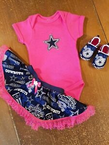 77aa32264 Dallas Cowboys Baby Girl 3 Piece Tailgating Outfit Baby Tailgating 0 ...