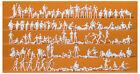 120 Unbemalte Figuren Freizeit Am see Preiser 16357 NH 2015