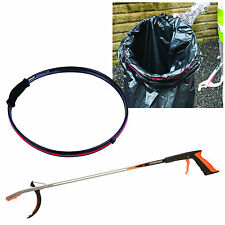 Litter Picker Helping Hand Disability Grabber Reach Tool + 1x Handi Hoop