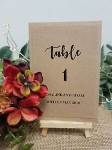 Rustic Wedding Table Numbers Names Cards Price Per 1 Card