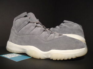 b5d24fdf4c21f6 NIKE AIR JORDAN XI 11 RETRO PREMIUM PINNACLE SUEDE COOL GREY SAIL ...