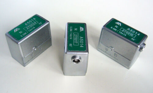 60º 5.0MHz//14x14mm Angle Beam Ultrasonic Transducers 45º 70º