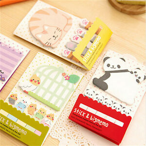 Animal-Cat-Panda-Cute-Kawaii-Memo-Sticky-Notes-Planner-Stickers-Paper-BookFBDU