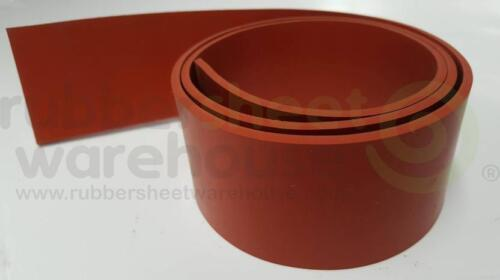 """Silicone Rubber Strip High Temperature 1//8/"""" thick x 2/"""" wide x 10/' FREE SHIPPING"""