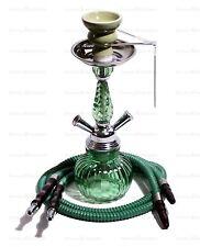 Green Hookah Smoke Pipe-2 Hose Hooka Shisha Pipes Narghile Huka Hukkah
