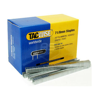 Tacwise 71 Series 8mm Long Galvinised Staples 20,000 Box