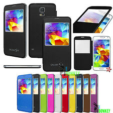 Custodia Flip Cover S VIEW Slim Per Samsung Galaxy S5 Mini SM-G800F + Pellicola