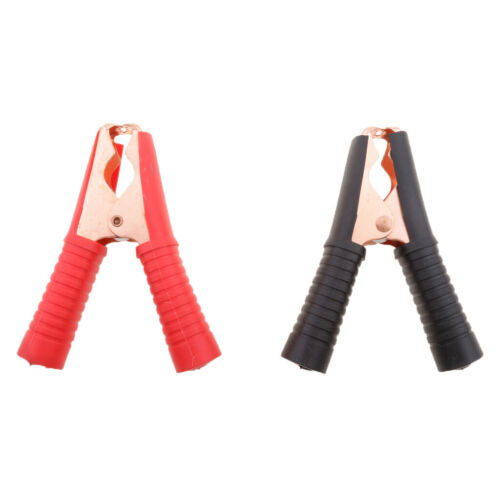 2 Pairs Jumper Starter Booster Cable Battery Test Alligator Clamps Red+Black
