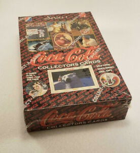 Coca-Cola-Collector-Cards-Unopened-Sealed-Box-Collect-A-Card-1993-Series-1