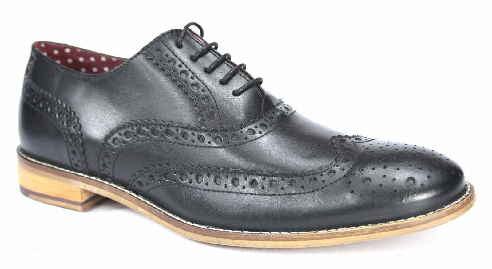 vendite calde Londra Londra Londra Brogues GATSBY Uomo LEATHER Wingtip scarpe formali nero  comodamente