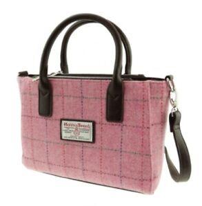Genuine Harris Tweed Handbag Tote Pink
