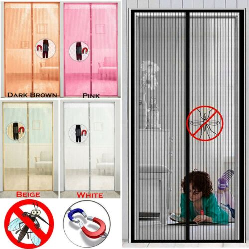 Magnetic Mesh Door Protective Curtain Fly Insect Mosquito Protection Screen UK
