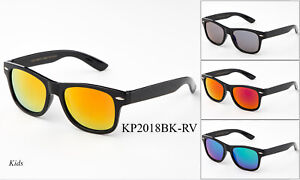 Kids-Sunglasses-Boys-Girls-Mirrored-Classic-Retro-Eyewear-Lead-Free-UV-100