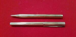 Bescheiden Paar Stifte Dupont Paris Vergoldet Stift Und Kugel Ref48656