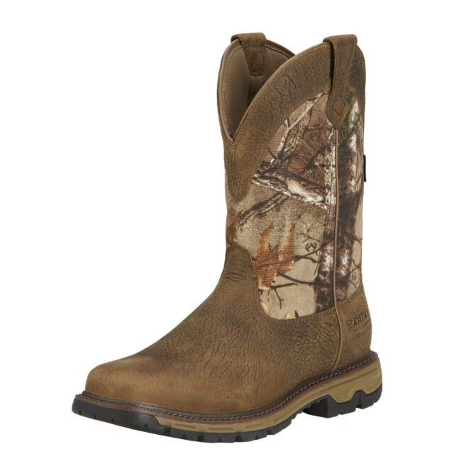 Ariat Men Conquest 400g Insulated Waterproof Work Hunting Western Boot 10016341