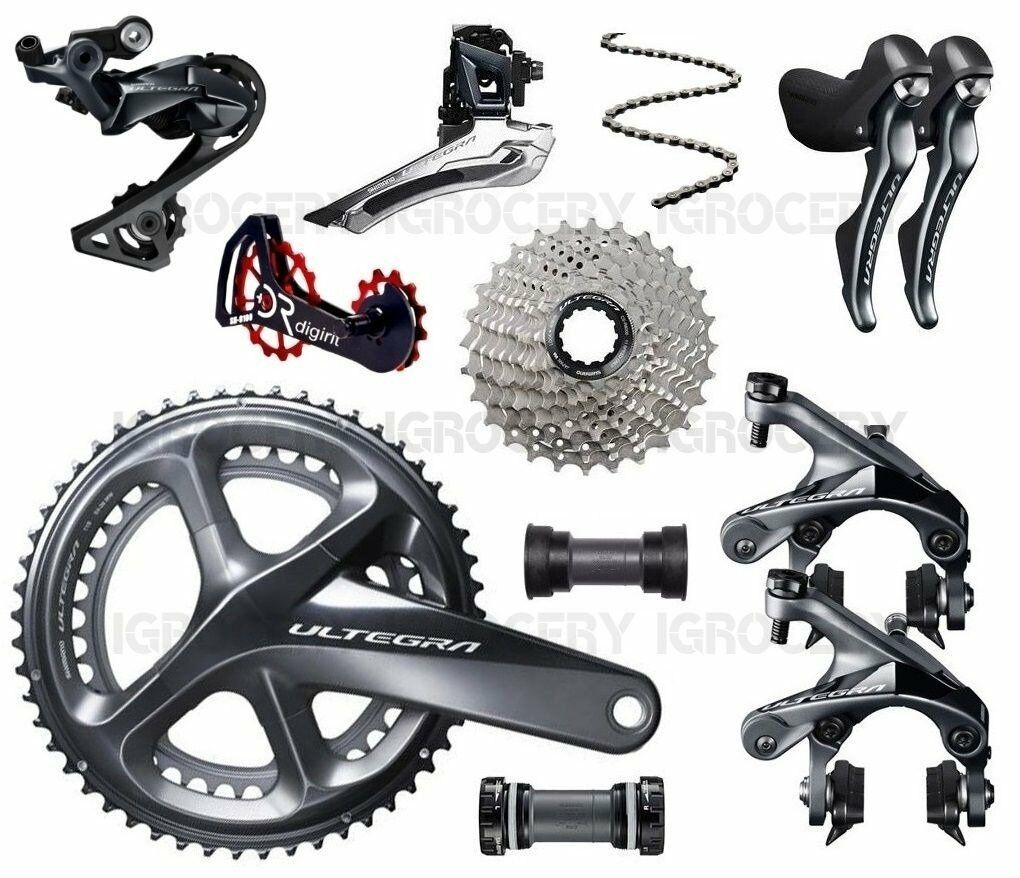 Shimano Ultegra R8000 Groupset 172.5mm wDigirit OverDimensioned pulley kit Road New