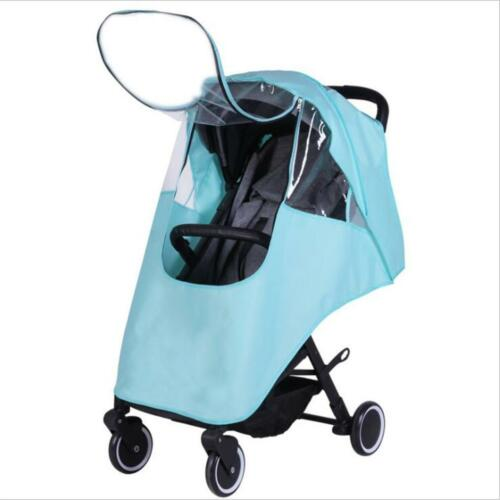 1Pc Baby Stroller Rain Cover Raincover Pushchair Pram Waterproof Accessories LA
