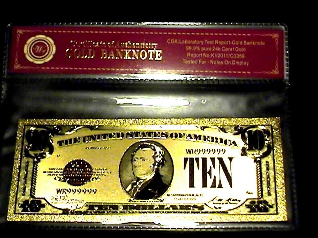 1928 Twenty Dollar 24K Gold Plated Gold Certificate