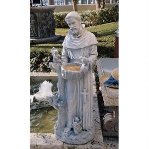 Nature-039-s-Nurturer-St-Francis-37-034-Design-Toscano-Exclusive-Faux-Stone-Sculpture