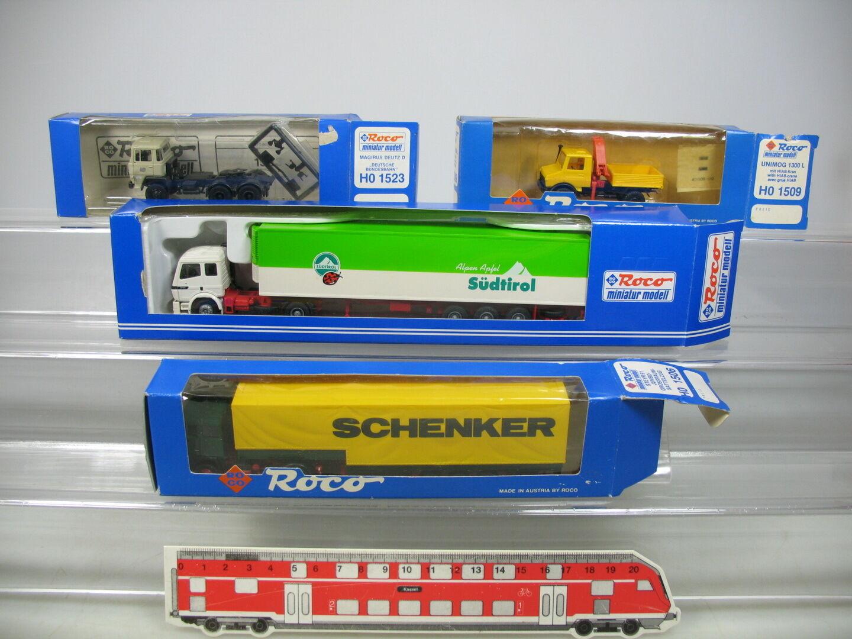 Ai752-0, 5  4x roco h0 modèle  1613 le tyrol du sud +1506 schenker +1509+1523 etc, OVP