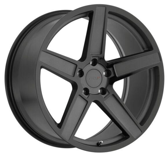 18x8.5 TSW Ascent 5x112 +32 Black Rims Fits Audi A4 B5 B6