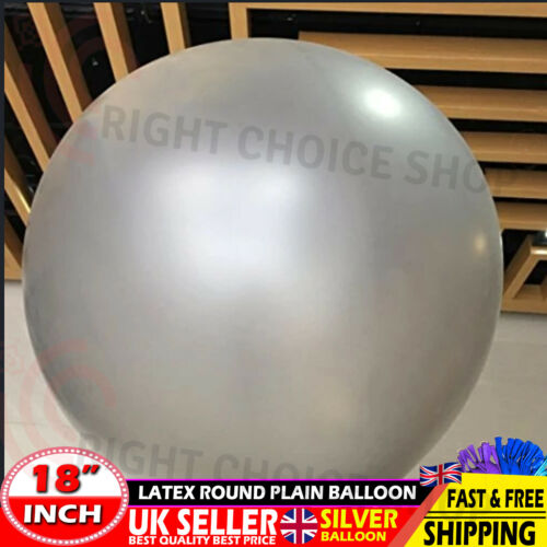 Silver Gaint Round Latex Balon Super Strong Helium Quality 18 inch Latex Balloon