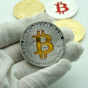 Unique BTC Gold Plated Bitcoin Souvenir Coin Collection Physical Collectible Art
