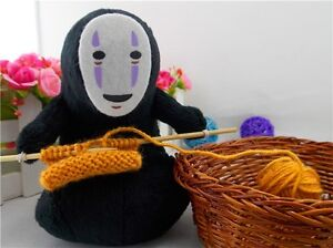 4e64c2929598 Details about Spirited Away No face Faceless Knit Plush Doll Toy