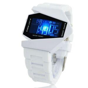 New-Men-039-s-Women-HI-tech-Led-Blue-Light-Fashion-Digital-Sport-Quartz-Wrist-Watch