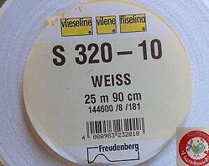 8 Euro/m - S320 Vlieseline - Schabracke -Einlage - weiß - Stoffperle