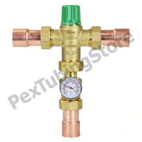 """Taco 5000//5120 Thermostatic Mixing Valve 1//2/"""" 3//4/"""" or 1/"""" in Sweat//NPT LEAD-FREE"""