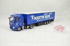 "NZG Art.848/04 MAN TGX 4x2 Gardinenplane Sattelzug ""Martin Baur"" 1:50"