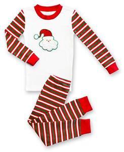 45b4e7bc2 Sara s Prints Girl Boy Baby Striped Santa Christmas Pajamas Holiday ...