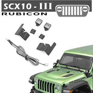 Nylon-Scheinwerferlampe-mit-3-mm-LED-Licht-fuer-1-10-AXIAL-SCX10-III-JEEP-RC-Car