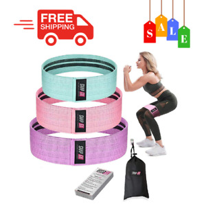 ShapEx Fabric Resistance Bands Set of 3 Non-Slip Booty Bands for Hip Circle Work