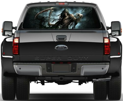 Death  Trees Grim Reaper Version 2 Rear Window Graphic Decal Truck SUV