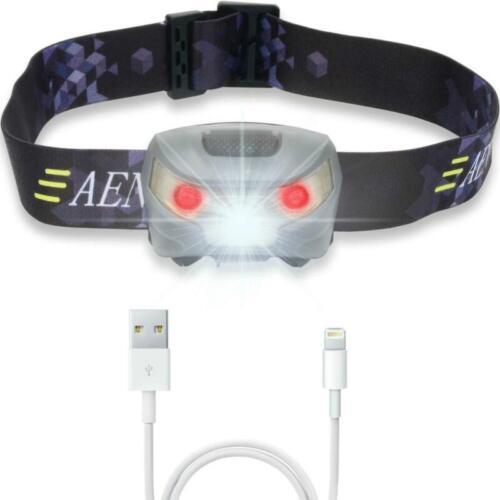 LED Kopflampe USB Wiederaufladbare Sehr hell Led-stirnlampe für Nachtlese