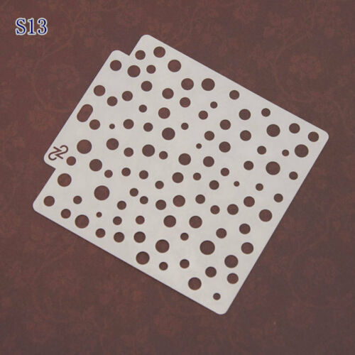 64 Style Embossing Template Scrapbooking Walls Painting Layering Stencils DIY