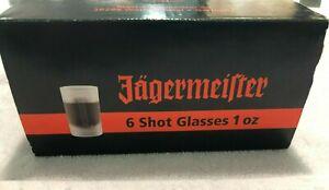 Set of 6 Jagermeister shot glasses, still in box