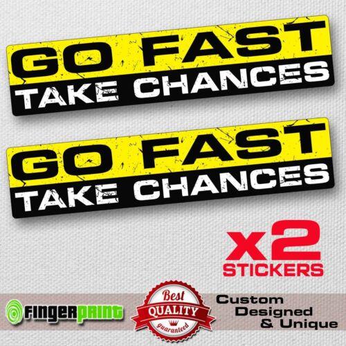GO FAST sticker decal vinyl jdm funny bumper car truck 4x4 window drift racing