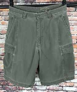 Men-039-s-Tommy-Bahama-Military-Green-Flat-Front-Cargo-Shorts-Size-34-Measures-32