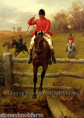 Foxhunting ~ DIY Counted Cross Stitch Pattern Over the Fence ~ Horses
