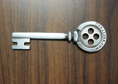 New Promotional Movie Coraline Button Skeleton Key Prop Ebay