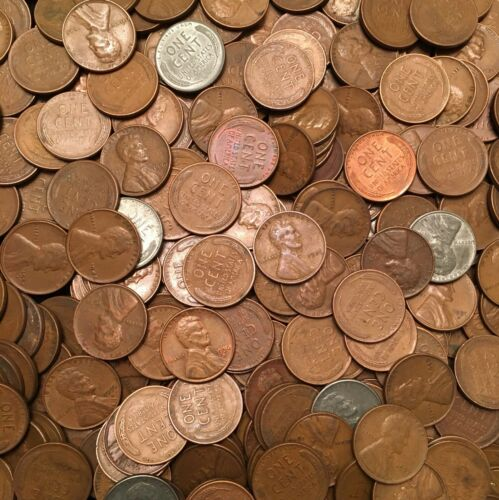 100-Coin Lot 1909-1958 Lincoln Wheat Cents