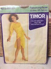 exciting!! vintageTimor nude feinstrumpfhose pantyhose w/ model  36/40 camel