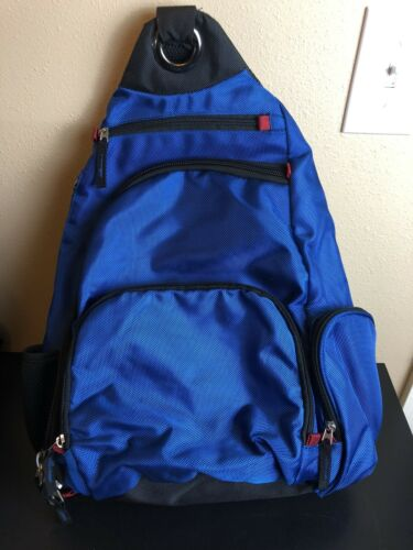 Men's Backpack Sling Bag 5 Compartment Royal Blue