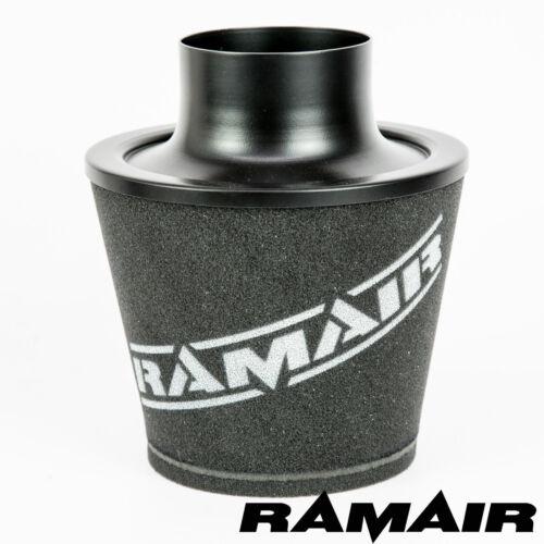Ramair Black Large Aluminium Induction Cone Air Filter 100Mm Od Neck Universal