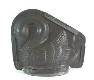 uralte-grosse-Backform-Konditorform-Schokoform-Schwan-27cm-x-23cm